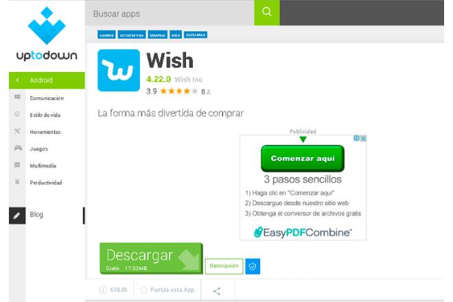 Wish, mejores páginas para comprar móviles chinos