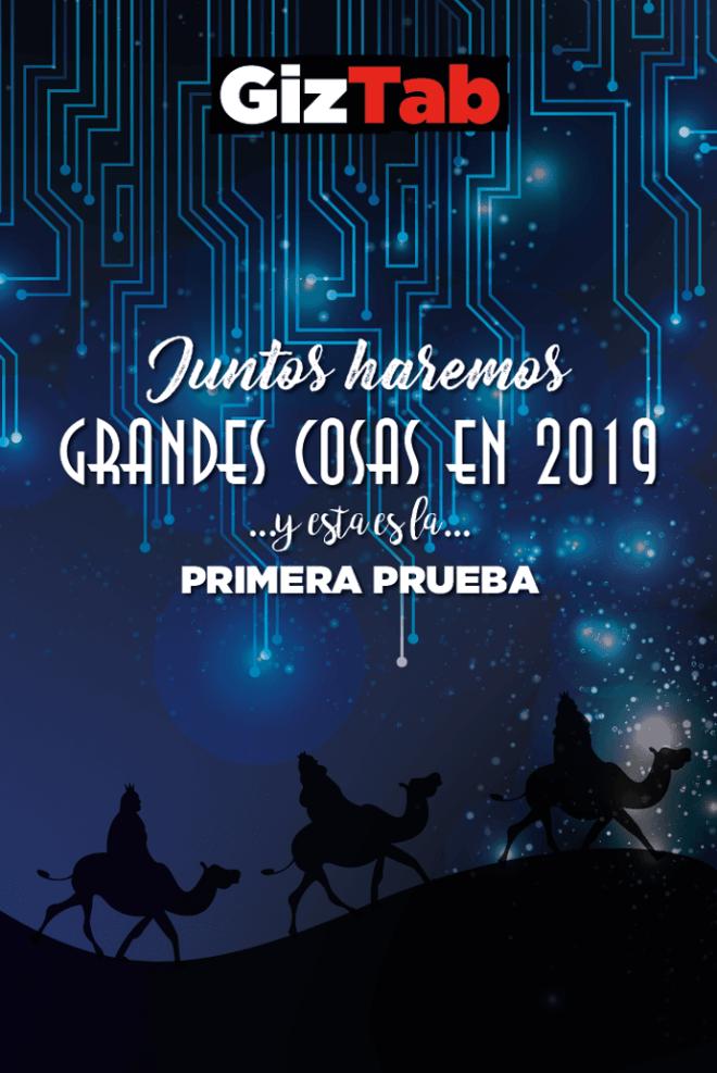 Felicitación o postal de Navidad 2018 gratis y con los reyes Magos Tech