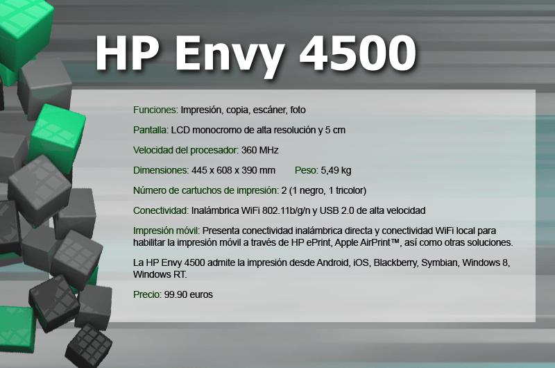 Hp Envy 4500 Impresora Multifuncional Inal 225 Mbrica Giztab