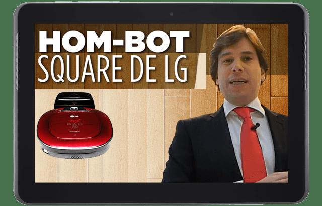 Hom-Bot Square de LG:  Un buen aliado para la limpieza