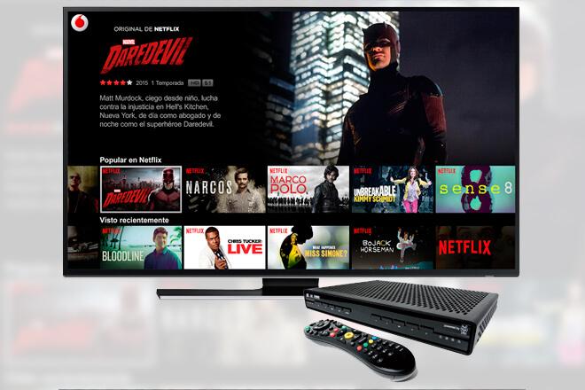 Vodafone se hace pionero al incluir Netflix en su servicio de TV en España