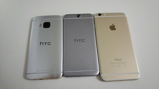 El HTC One A9 guarda más parecido (en cuanto a diseño) con el iPhone 6 que con el HTC One M9