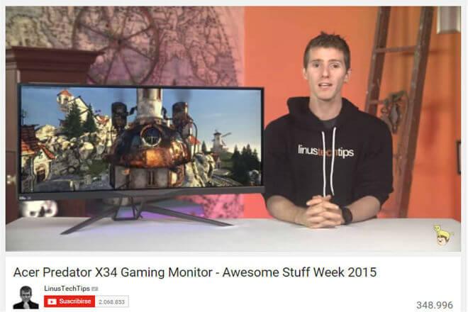 """Acer Predator X34 es la """"mejor experiencia gaming que puedes tener en tu escritorio"""", según LinusTechTips"""