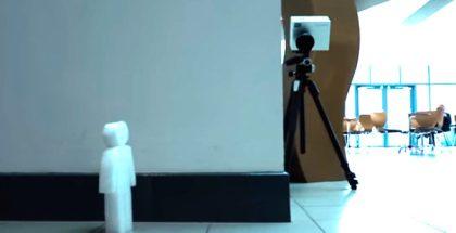 Con esta cámara podrías detectar objetos ocultos detrás de una pared