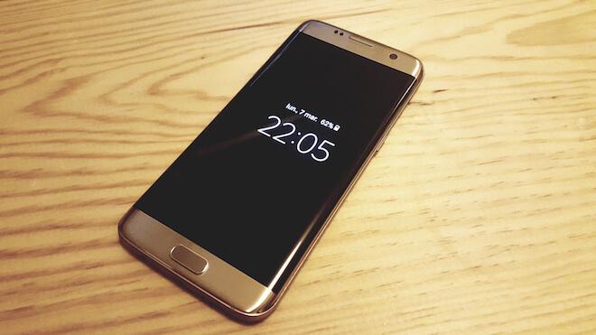 tecnología Always On pantalla encendida Samsung Galaxy S7 Edge