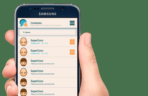 Aplicación de mensajería COGA