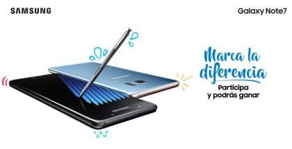 Concurso del Samsung Galaxy Note 7