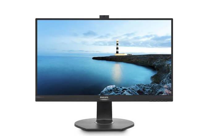 Monitor Philips con cámara web emergente