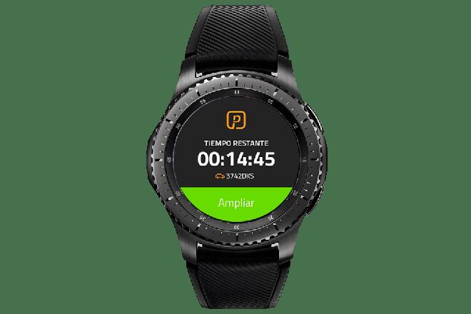 Pagar el parking desde los smartwatches