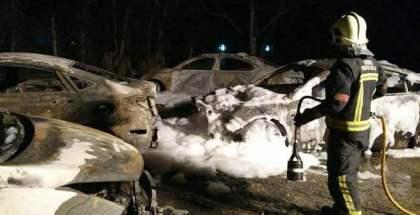 Quemas nueve coches de Cabify