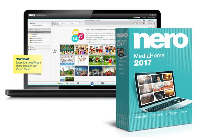 Nero MediaHome Unlimited: software para organizar archivos multimedia