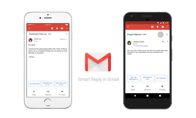 Smart Reply llega a Gmail para Android e iOS: Funciona así