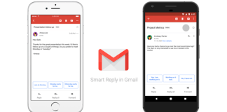 Smart Reply ya está disponible en Gmail para Android e iOS