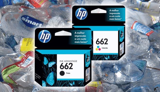 Cartuchos de tinta HP hechos con botellas de plástico recicladas en Haití