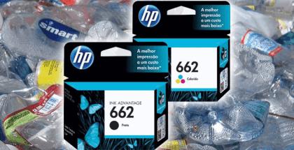 HP fabrica cartuchos de tinta con botellas de plástico recicladas