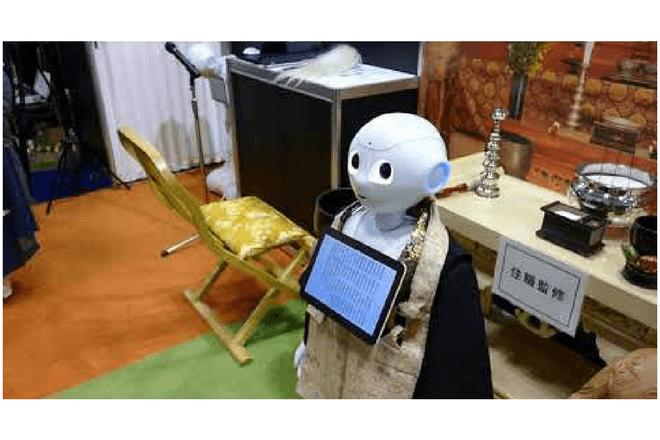 Los robots sacerdotes son más económicos que un monje budista humano
