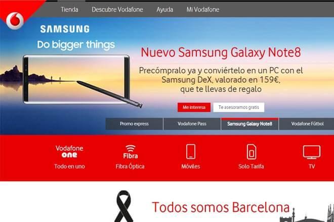 Note 8 en Vodafone