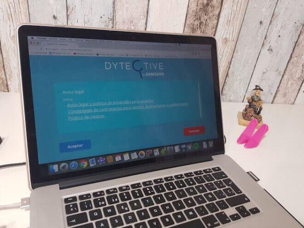 Dytective for Samsung test se puede hacer desde el ordenador MAC o PC