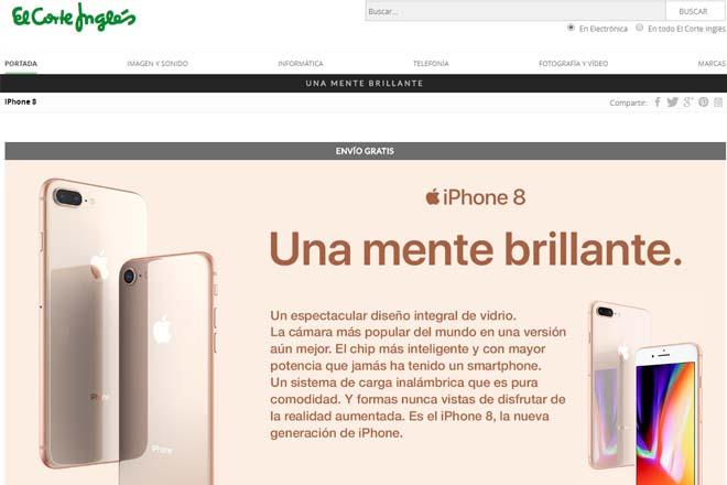 iPhone 8 El Corte Inglés
