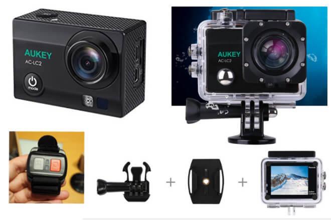 opiniones de la cámara acción Aukey AC-LC2