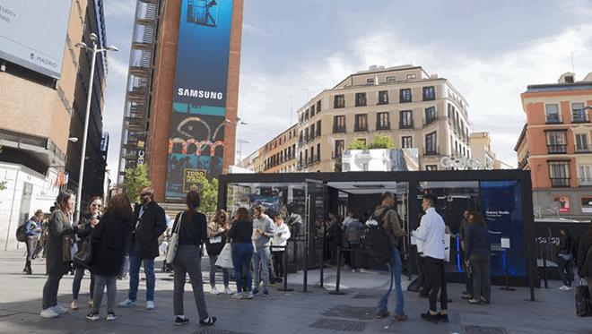 Samsung llena con tecnología la plaza Callao de Madrid