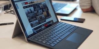 El teclado se acopla de forma maravillosa a la Microsoft Surface Pro 2017
