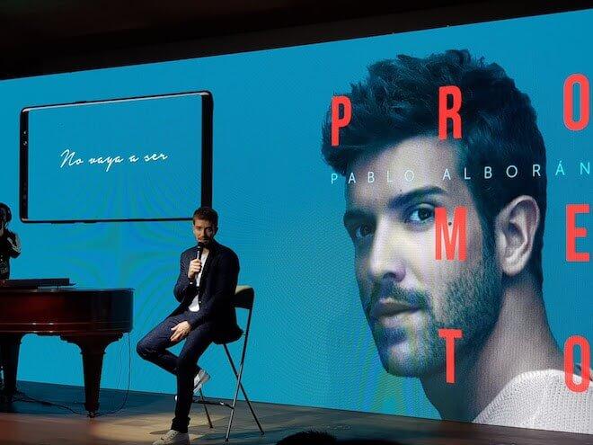 Pablo Alborán Más Cerca, ofrece contenidos únicos del cantante a los usuarios de dispositivos de Samsung