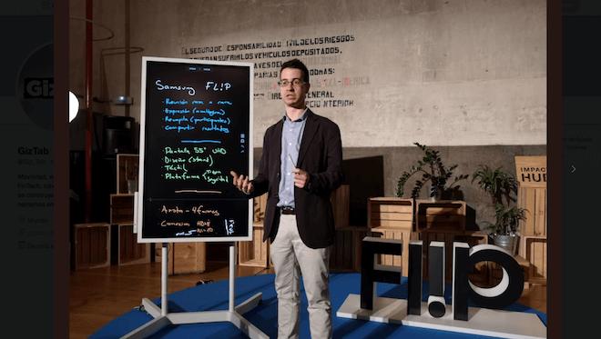 La pizarra interactiva Samsung Flip llega a España para impulsar el trabajo colaborativo y la creatividad