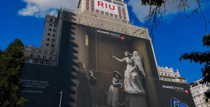 La mayor fotografía del mundo captada por un smartphone, realizada con un Huawei P20 Pro, se expone el centro de Madrid