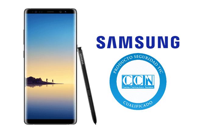 Samsung Galaxy Note8 ha recibido la Cualificación del Centro Criptológico Nacional (CCN