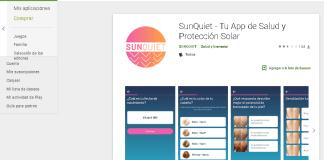 aplicación para la protección del sol