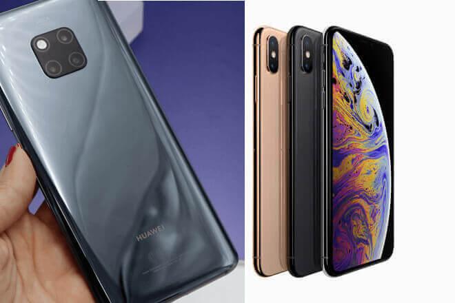 Comparativa del Huawei Mate 20 PRO Vs iPhone XS Max