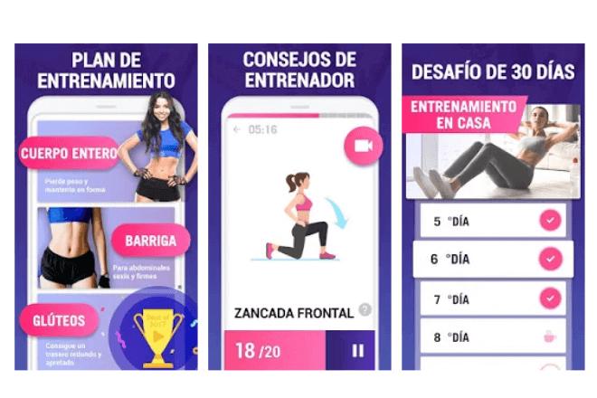 imagen de pantallas de móvil app
