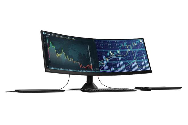 La pantalla de 43,4 pulgadas ofrece un ratio de aspecto ultra amplio de 32:10 con una resolución de 3840×1200