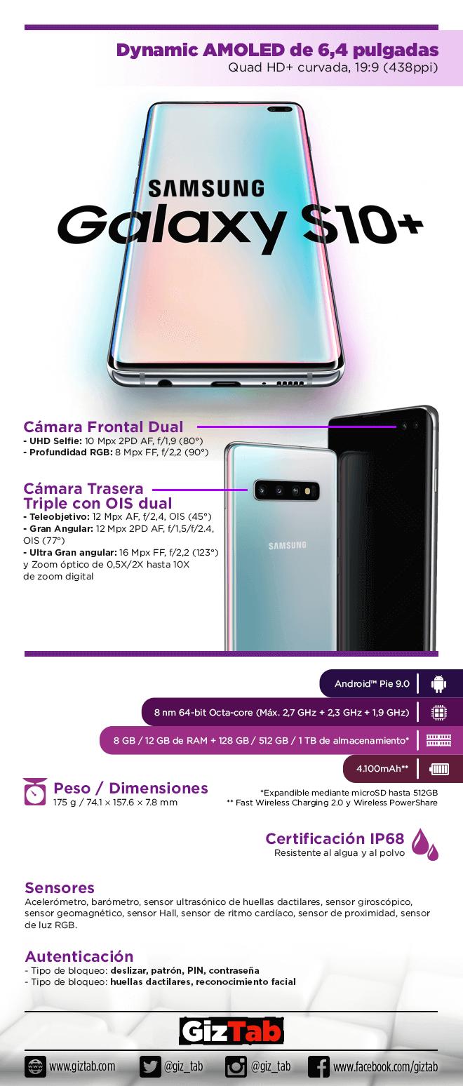 Características del Galaxy S10+