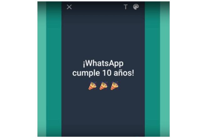pantallazo de extracto de video de Whatsapp por sus 10 años