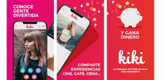 imagen de diferentes pantallas de móviles con la app Kiki