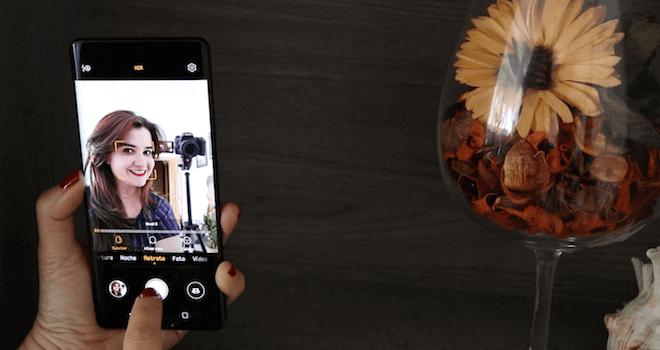 Selfie con la cámara frontal de Huawei P30 pro