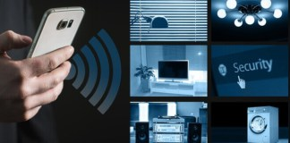 Un móvil se conecta a través de WIFI 5Gcon equipos y electrodomésticos del hogar