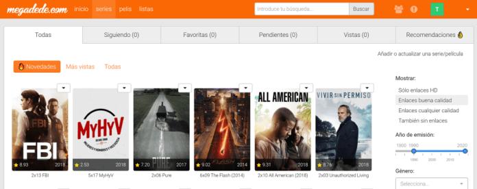 Megadede es una web  con buen catálogo