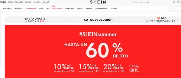 Descuentos Shein