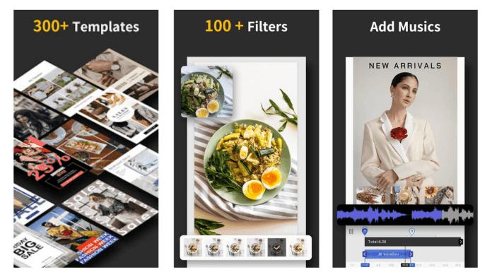 Además de las plantillas tiene más de 100 filtros cuidadosamente seleccionados.