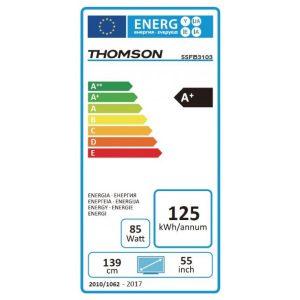 Esta es la etiqueta energética del Thomson