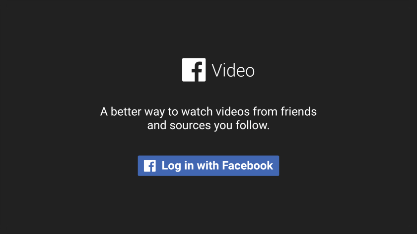 facebook para android tv