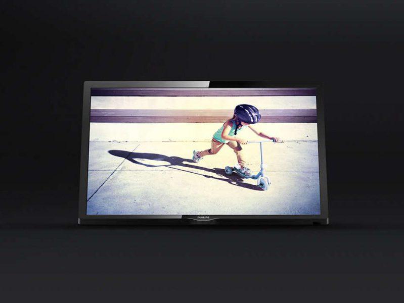 Philips 24PFT4022/12, un televisor de gama media-baja elegante