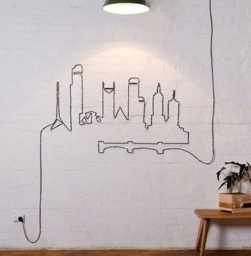 Arte en estado puro al dibujar con cables