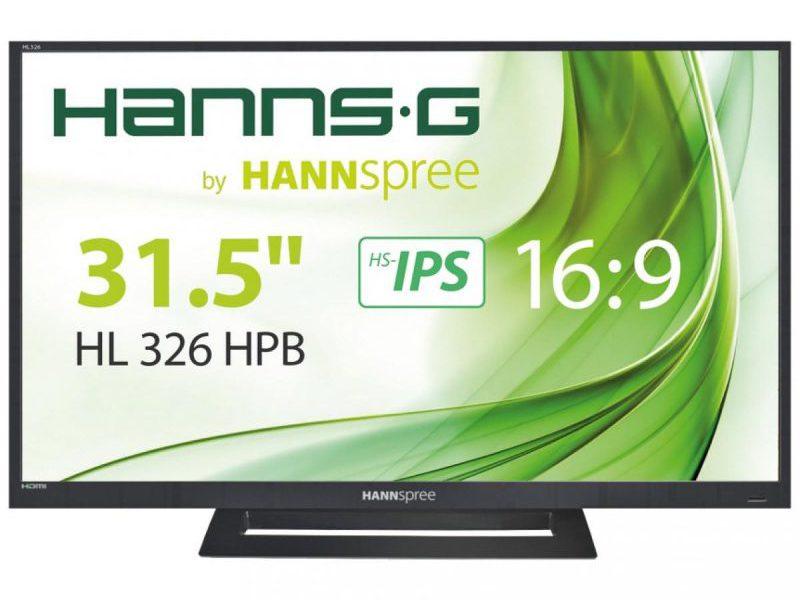 Hannspree HL326HPB, un monitor sencillo con un diseño que enamora