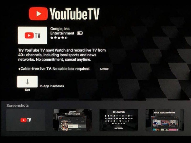 YouTube TV en Apple TV