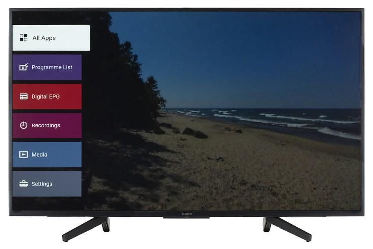 La plataforma inteligente del televisor Sony KD49XF7096BAEP es suficiente pero no es top en nuestro ranking
