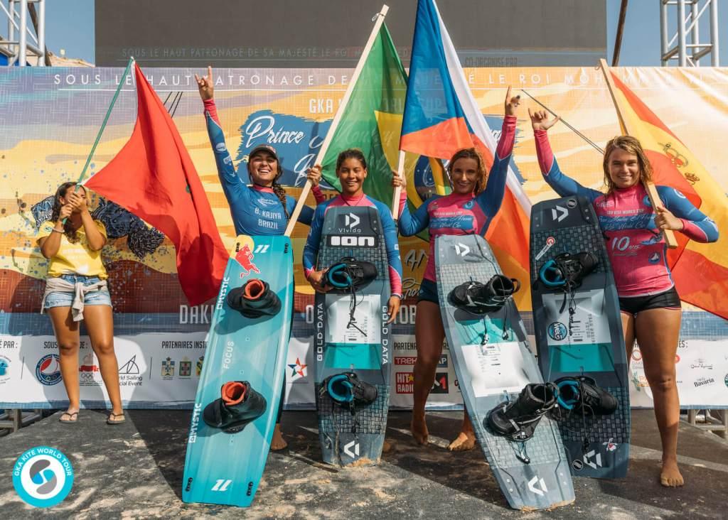 GKA Kite World Cup Dakhla women's podium